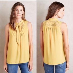 Anthropologie Maeve Luca Tie Neck Blouse (A5)